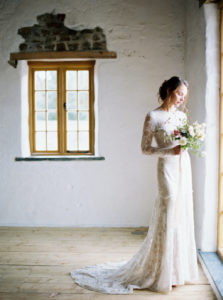 Winter Wedding, Bride, Bridal gown, Bridal Dress, Bridal Flowers, Wedding Flowers, Barn Wedding, Cornwall Wedding