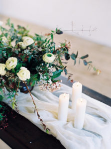 Wedding floral arrangement, wedding details, film photography