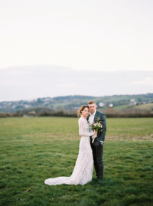 Fine art wedding, wedding elopement, bridal wear, bride and groom, film photography