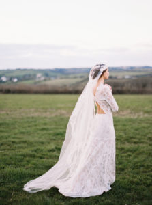 bridal wear, veil, film photography,