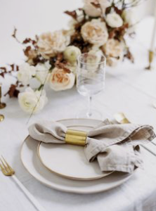 Table details, wedding styling, wedding flowers, table linen