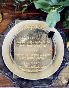 Wedding menu's, wedding stationary